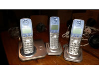 House Telephones - triple set of panasonic handsets