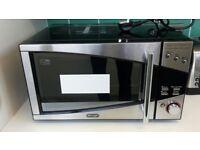 BROKEN microwave Delongi P80D20EL-T5A/H black silver BROKEN