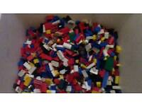Box of official loose lego