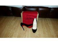 Christian louboutin black heels 38.5 size 5.5