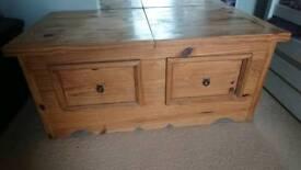 Solid wood storage unit ottoman chest toybox blanket box