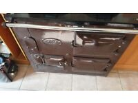 Aga cooker 2 oven (standard oil fired )( refurbed 7 yrs ago ) brown