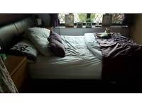 King size leather bed and mattress