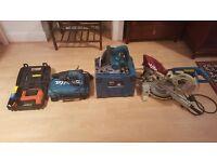 Makita tools - mitre saw, plunge saw, hammer drill, TacWise nail gun