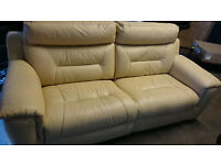 dfs Editor 3 Seater Leather Electric Recliner Sofa RRP £2798*Delivery Available*