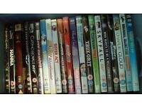 90+ DVDs and Wii / Playstation games.
