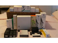 Selection of Arbonne products (face, body, makeup)