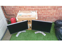 2x Dell UltraSharp 2408WFP 24-inch LCD monitors boxed spares or repair.