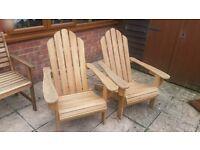2 Adirondack Folding Chairs AS New