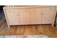 Light wood sideboard