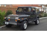 Jeep Wrangler 4.0 (LHD) + (LEFT HAND DRIVE) + 1995/M REG + UK REG + HARD TOP + 80K + RUST FREE +