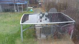 8 seater glass garden table only £50
