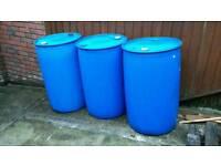 BLUE PLASTIC BARRELS / DRUM -200 LITRE / WATER BUTT