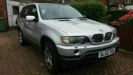 52 plate 03 model Bmw x5 3.0 sport auto brilliant silver full black hide