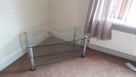 glass coffee/tv table