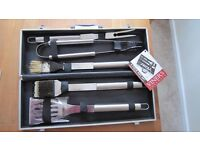 Viners 5 Piece Stainless Steel BBQ Set in Case