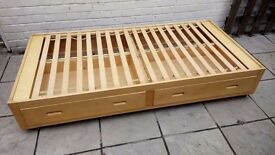 Single Bed. Pine. With two drawers