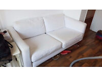 Stylish White Ikea Karlstad Two Seater Sofa Good Condition