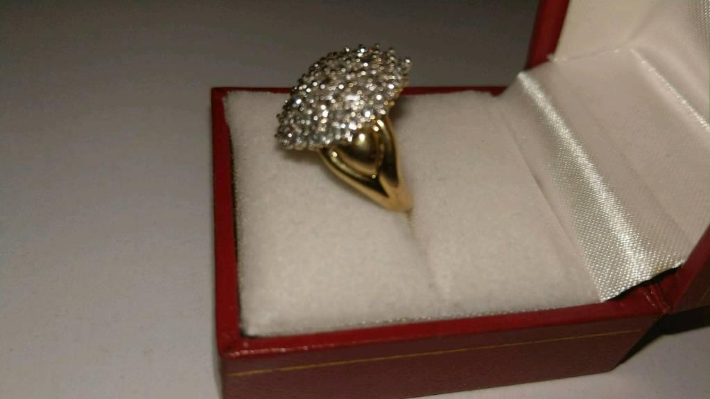 18 ct gold ring diamond 1ct