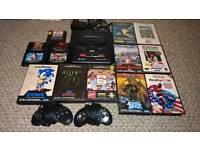 Sega Mega Drive Console & 16 Games