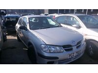 2002 NISSAN ALMERA, 1.5 PETROL, BREAKING FOR PARTS ONLY, POSTAGE AVAILABLE NATIONWIDE