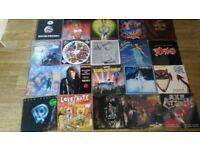 75 x rock metal alternative vinyl LP's / 12 inch giant iron maiden accept poison deep purple