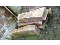 Reclaimed Sandstone large stone steps x5