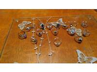 Silver hallmarked rings