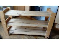 Sturdy shoe rack, wooden shelf, handy storage