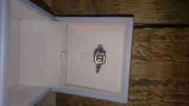 Diamond engagement ring: size M. Comes with valuation document and GIA certificate.