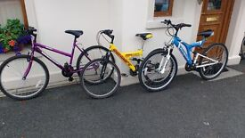 3 bikes for sale. £50 for the lot. Need the space in garage