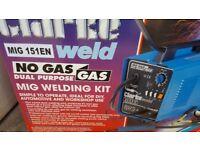 Clarke 151 en turbo gas / gassless mig welder