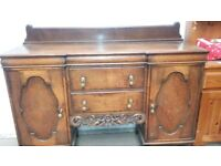 Large antique side board