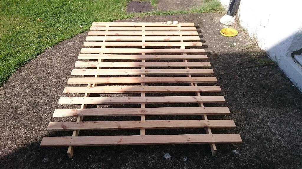 Ikea Kvidinge Wooden Double Futon Bed Base Frame Only