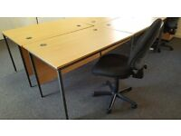 Black Office Chairs - Full Lumbar Support & Fully adjustable x 10