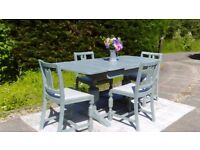 Fabulous 1950's Extending Oak Dining Table & 4 Chairs, Shabby Chic, Delivery Available.