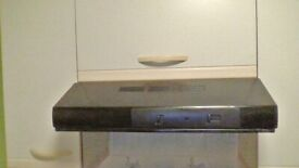 Electrolux black cooker extraction hood