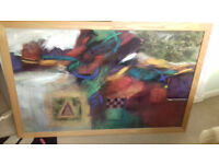 extra large colourful art picture