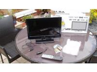 "FOR CARAVAN/CAMPER OR EVEN IN THE CAR !! 16""TV/DVD Digital Freeview LED with DVD"
