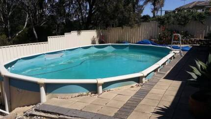 Above Ground Pool 8mx4.5m Pump/Filter, Needs new liner Happy Valley Morphett Vale Area Preview