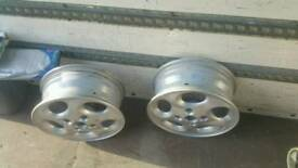 Aluminium Rims Only Two Free Delivery