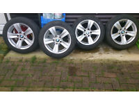 alloy wheels with tyres for bmw 316 e46