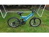 boys 20 inch trax full suspension mountain bike