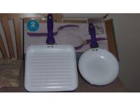 Ceramic Griddle & Frying Pan Set