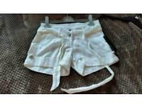Lipsy white cotton women shorts size 6 Brand New
