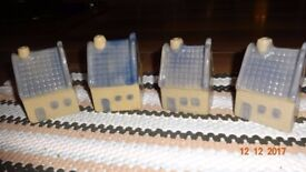 Miniature Pottery House x 4 Cute/Dolls House/Display/Ornaments/Fish Tank