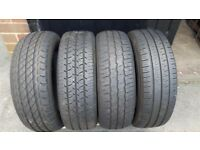 """16"""" VAN LOAD RATED TYRES 205/65/16c price for 4 road legal treads"""