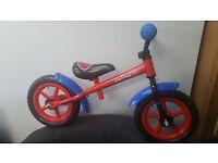 Children's spider man balance bike..