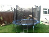 Extra Large Trampoline With Slide