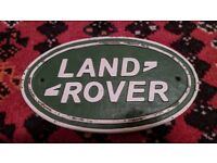 Landrover vintage cast metal sign. Rare collector's automilia